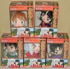 Inuyasha Mascot Plush Dolls Full Set Kagome Sango Miroku Shippou Bandai 2001 Nib