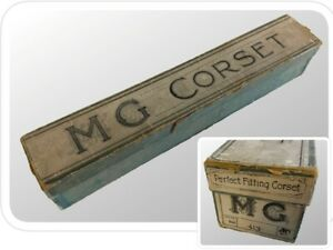 Antique Early 1900s CORSET BOX - MME GUILLOT Corset Maker - Rare Original