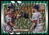 2021 Topps Series 1 Base Green #17 Sean Doolittle /499 - Washington Nationals