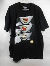 New Mens Popular Demand Black Graphic T-Shirt size XL***