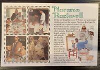 Scott #2840 NORMAN ROCKWELL Souvenir Sheet of FOUR 50 Cent U.S. Stamps MNH