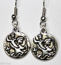 Silver Tone St Saint Christopher medal Coin Jesus Christ Catholic Christian