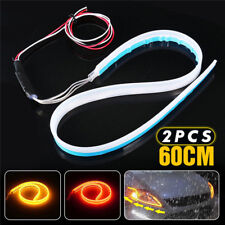 2X 60cm LED Switchback Headlight Sequential DRL Light Strip Tube Red&Yellow DP