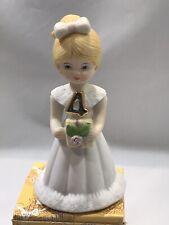 Enesco Growing Up Girl Figurine #E-2304 Age 4 Blonde Nib 4th Birthday
