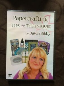 PAPERCRAFTING TIPS & TECHNIQUES WITH DAWN BIBBY INSTRUCTIONAL DVD - NEW & SEALED