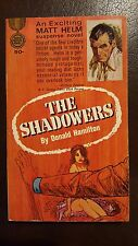 """Donald Hamilton, """"Shadowers,"""" 1964, Gold Medal d1602, NF, 1st"""