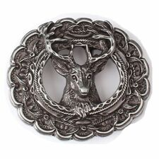 Vintage Deer Head Belt Buckle Western Cowboy Native American (HDR-01)