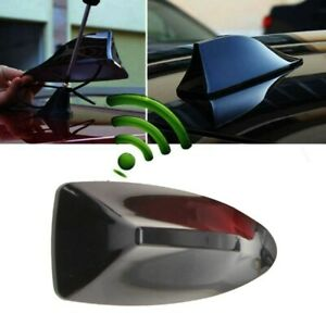 Universal Car Black For Shark Fin Roof Antenna Radio FM AM Aerial Signal Booster
