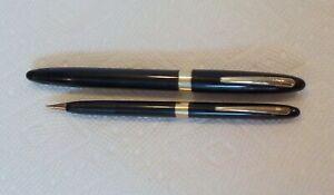 Vintage Sheaffer Snorkel Fountain Pen & Pencil Set PARTS 14k Gold Nib AS FOUND