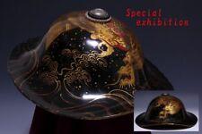 Japan Antique Dragon JINGASA hat Edo kabuto yoroi koshirae Armor samurai busho 龍