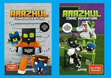 2 x ARAZHUL-COMIC-ADVENTURE: Band 2 + 3. Wie ich meine Hausaufgaben im Gefängnis