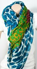 "Tolani 129 Cashmere wool/Silk  Turquoise Scarf 62"" x 62"""
