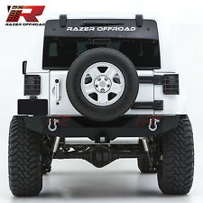"07-17 Jeep Wrangler JK HD Rock Crawler Rear Bumper+2"" Hitch Receiver+2xD-Ring"