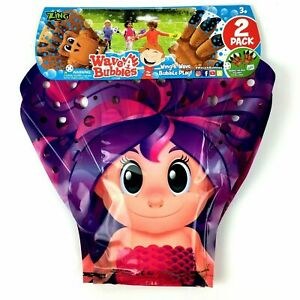 Zing Wave-A-Bubbles Pack of 2 Gloves Hours Of Bubble Fun! MERMAID V3
