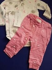Newborn baby girl 2pc Angel Dear body suit and pants viscose from bamboo fabric