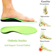 High Arch Heel Gel Support Plantar Fasciitis Orthotic Insoles Flat Foot Feet Pad