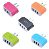 3 Port 5V 3.1A USB AC Wall Charger Home Travel Fast Charging Adapter US/EU Plug
