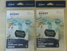 """16 Total Avery Removable Chalkboard Labels Lot 3-3/4"""" x 2-1/2"""" 41574"""