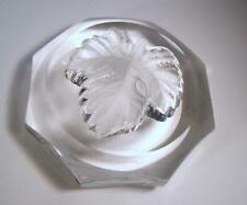 Hand Signed Lalique France MAPLE LEAF Paperweight  #11813