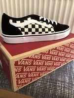 vans Size 8.5 filmore Devon Checkerboard Black/white