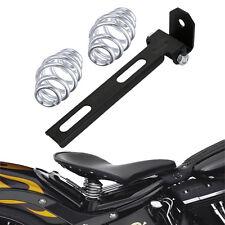 "For Harley Chopper Bobber 3"" Solo Seat Springs + Black Bracket Mounting Set"