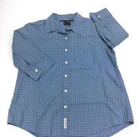 Abercrombie & Fitch Women's Button up Plaid Blue/Green Shirt Cotton Size M