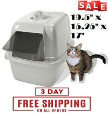 Large Cat Litter Box Enclosed Sifting Pan Hooded Jumbo Covered Kitty House