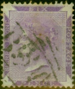 Sierra Leone 1865 6d Grey-Lilac SG2 Good Used