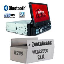 Caliber Autoradio für Mercedes CLK W208 Bluetooth/MP3/USB/SD/7' TFT Einbauset
