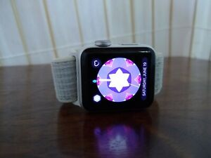 Apple Watch Series 3 38 mm Silver Aluminum Case with accessories & extras
