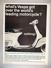 Vespa Motorcycle PRINT AD - 1965 ~~ motor scooter