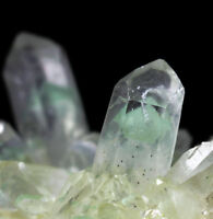 "290g Rare NATURAL Green Ghost ""pyramid"" Quartz Crystal Cluster Specimen"