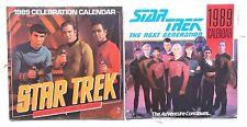Vintage 1989 Seaeld 2 Star Trek Celebration / The Next Generation Calendars