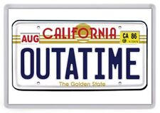 Outa Time License Plate Fridge Magnet. NEW. Back to the Future, California