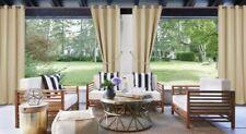 "Pottery Barn Sunbrella Solid Outdoor Grommet Drape 50"" x 118"" Linen Sand"