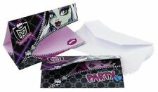 6pk Monster High 2 Party Birthday Pink Black Party Invitations and Envelopes
