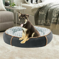 Large Orthopedic Plush Couch Round Style Pet Bed w/Removable Cover for Cats Dogs