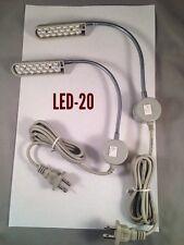 2 Led Light Lamp Gooseneck Magnet Base Work Craft Dorm Bench Sewing Auto