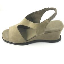 Worthington Soft Women's Leather Suede Wedge Open Toes Shoes Size 6.5 M