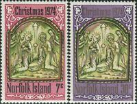 Norfolk Island 1974 SG156-157 Christmas nativity set MNH