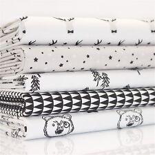 FQ Bundle - Black & White Chic Fun x 5 - Fat Quarter - Cotton Fabric Patchwork Q