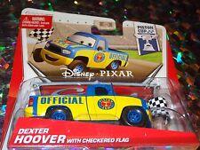 """DISNEY PIXAR CARS """"DEXTER HOOVER w/FLAG"""" Scale1:55, Die-Cast Metal, NEW,Mattel"""