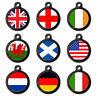 FLAG PET TAGS - Union Flag - Pet Dog Cat Name ID Tag Pet Flag Tags-Engraved FREE