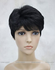 (7 colors) Short Curly Women Female Lady Hair Full Wig / Perruque #E-LINDA