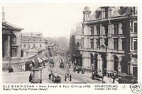 Warwickshire Postcard - Old Birmingham - New Street & Post Office c1900 - U1901