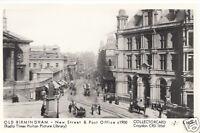 Warwickshire Postcard - Old Birmingham - New Street & Post Office c1900 - U1901