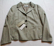 Nilofar RARE WOMANS Gray WOOL Blazer JACKET Made in ITALY  NWT Small  S $998