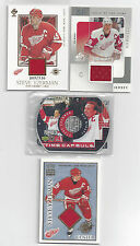 STEVE YZERMAN JERSEY CARD LOT #5, CROWN ROYALE, SP GAME USED, PLUS OTHERS