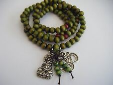 "Spiritual Unisex 28"" Mala Necklace Stacking Bracelet Kuan Yin OM Healing Yoga"
