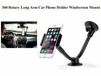 360 Rotary Long Arm Car Phone Holder Windscreen Mount for Phone